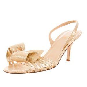Kate Spade ♠️ Gold Bow Slingback Heels